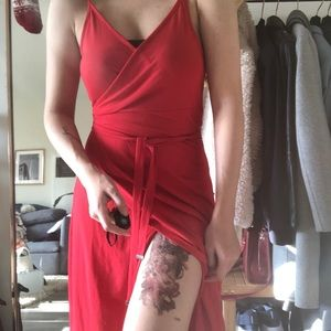 Guess maxi red dress, new
